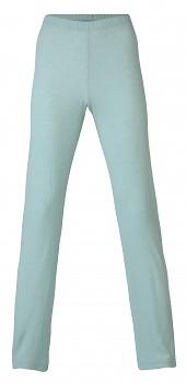 Dámské pyžamové kalhoty z merino vlny a hedvábí - světle modrá glacier