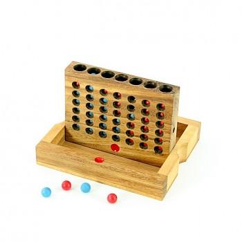 Dřevěná hra PIŠKVORKY 4 v řadě
