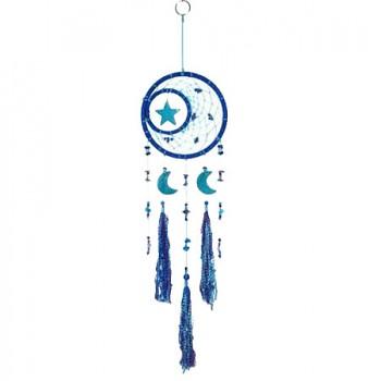 STAR/MOON lapač snů - modrá