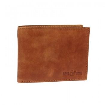 CASUAL vintage pánská kožená peněženka hnědá