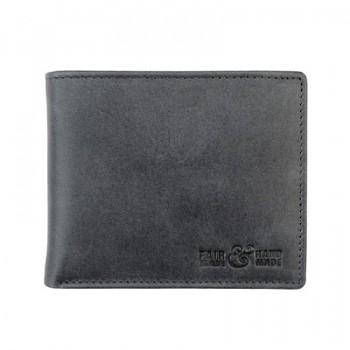 CASUAL pánská kožená peněženka černá