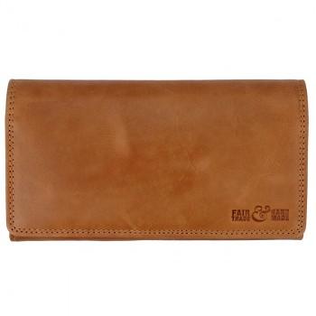 CASUAL vintage dámská kožená peněženka hnědá
