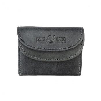 MINI vintage kožená peněženka tmavě šedá