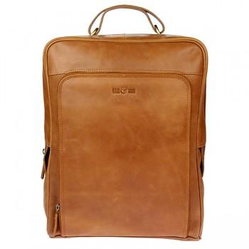 ELEGANCE vintage dámský kožený batoh - hnědá