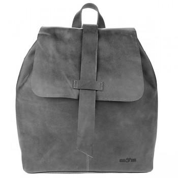 SUNITA dámský kožený batoh - šedá