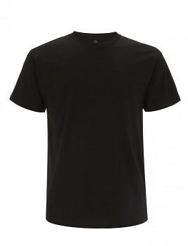 Pánské tričko s krátkými rukávy z 100% biobavlny - černá