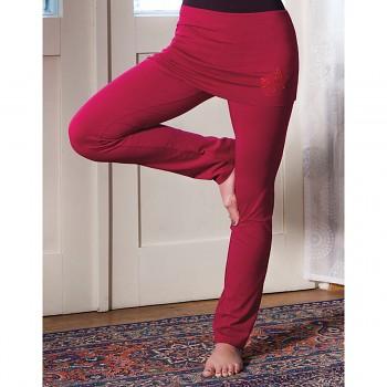 ROSE Dámské úpletové kalhoty na jógu z biobavlny - růžová