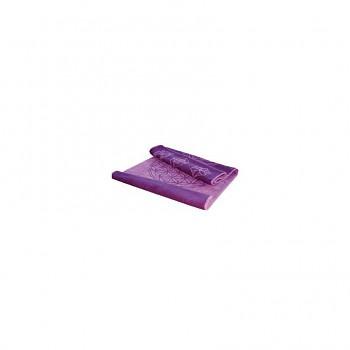 HORTENZIA koupelnová předložka ze 100% biobavlny s růženíny a ametysty (48 x 65 cm)  - fialová