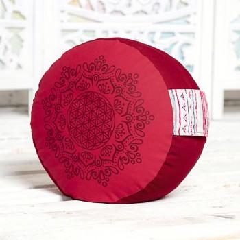 SUN meditační polštářek ze 100% biobavlny s růženíny a ametysty - fialová
