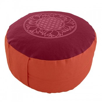 SUN meditační polštářek ze 100% biobavlny s růženíny a ametysty - terrakota
