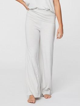 AGNES dámské pyžamové kalhoty z konopí a biobavlny - světle šedá white stone