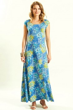 SUNSHINE dámské letní maxi šaty ze 100% biobavlny