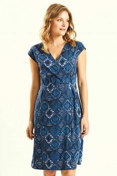 GLAM dámské letní šaty ze 100% biobavlny - modrá navy