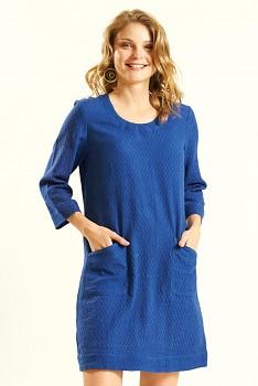 GLADE dámské letní mini šaty / tunika ze tkané bavlny - modrá marine