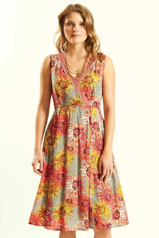 DAHLIA dámské letní šaty ze 100% bavlny - růžová guava 6ebac0408a