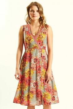 DAHLIA dámské letní šaty ze 100% bavlny - růžová guava
