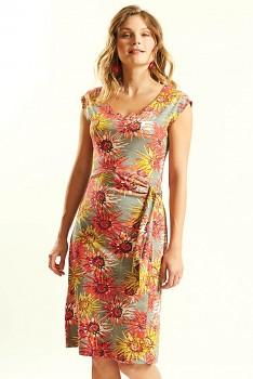 DAHLIA dámské letní šaty ze 100% biobavlny - růžová guava