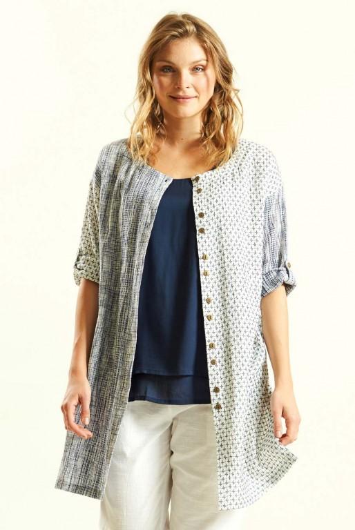 652f555e7b7 STITCH dámská propínací tunika ze tkané bavlny 30denni garance ...