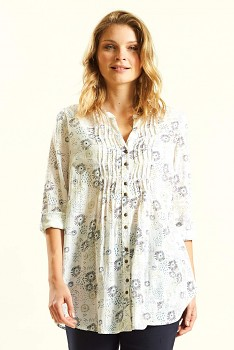 TRELIS dámská letní košile z bavlny - bílá