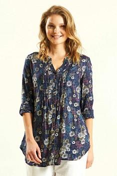 TRELIS dámská letní košile z bavlny - tmavě modrá navy