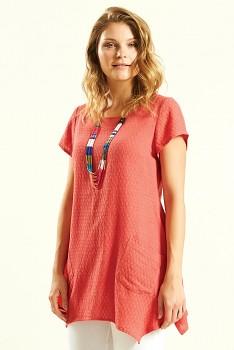 GLADE dámská tunika z bavlny - růžová guava