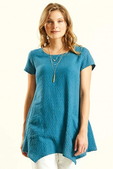 GLADE dámská tunika z bavlny - modrá lagoon