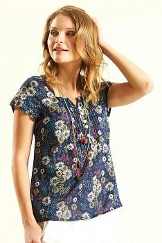 DAISY dámský letní top z bavlny - tmavě modrá navy