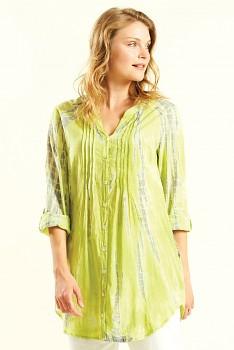 VIBE dámská letní košile z bavlny - žlutá avocado