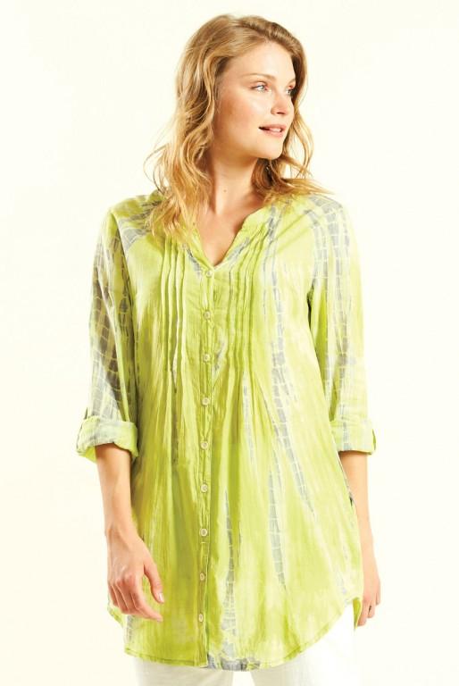VIBE dámská letní košile z bavlny - žlutá avocado 30denni garance ... a937e9aa46