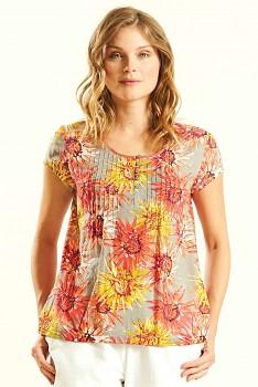 DAHLIA dámský letní top ze 100% bavlny - růžová guava