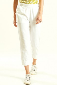 SLIM dámské letní 3/4 kalhoty - bílá