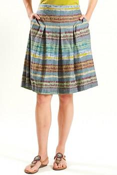 CROSS dámská letní sukně ze 100% biobavlny - šedomodrá verdigris