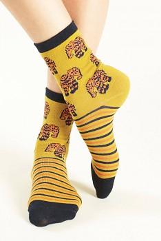 ELEPHANT Dámské ponožky z biobavlny - žlutá