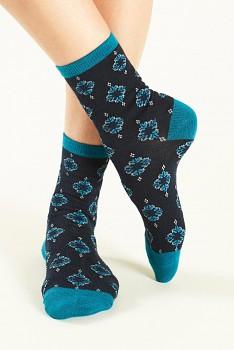 WINNOW Dámské ponožky z biobavlny - modrá indigo