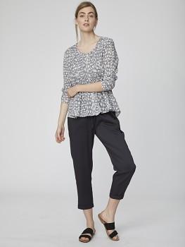 CATHERINE dámské slim fit kalhoty z modalu a bambusu - černá