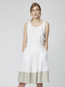 ROSABEL dámská sukně ze 100% konopí - bílá