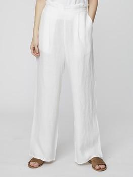 ROSABEL dámské kalhoty ze 100% konopí - bílá