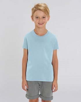 MINI CREATOR dětské tričko s krátkými rukávy ze 100% biobavlny - modrá sky