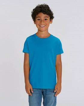MINI CREATOR dětské tričko s krátkými rukávy ze 100% biobavlny - modrá azur