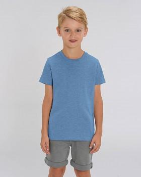 MINI CREATOR dětské tričko s krátkými rukávy ze 100% biobavlny - modrá mid heather blue
