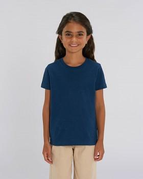 MINI CREATOR dětské tričko s krátkými rukávy ze 100% biobavlny - modrá black heather blue