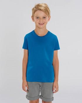 MINI CREATOR dětské tričko s krátkými rukávy ze 100% biobavlny - modrá royal