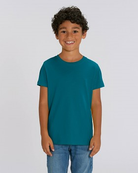 MINI CREATOR dětské tričko s krátkými rukávy ze 100% biobavlny - modrá ocean depth