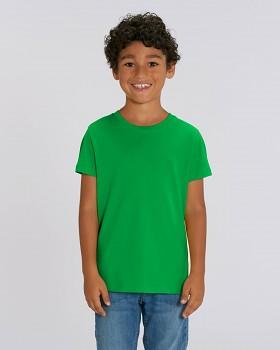 MINI CREATOR dětské tričko s krátkými rukávy ze 100% biobavlny - zelená fresh green