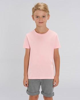 MINI CREATOR dětské tričko s krátkými rukávy ze 100% biobavlny - růžová cotton