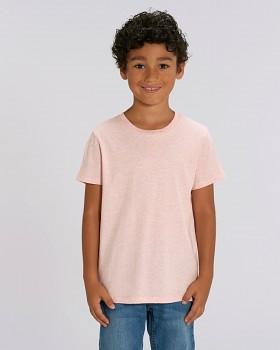 MINI CREATOR dětské tričko s krátkými rukávy ze 100% biobavlny - růžová cream heather pink