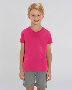 MINI CREATOR dětské tričko s krátkými rukávy ze 100% biobavlny - růžová malinová