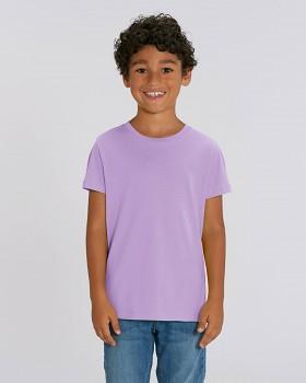 MINI CREATOR dětské tričko s krátkými rukávy ze 100% biobavlny - fialová levandulová