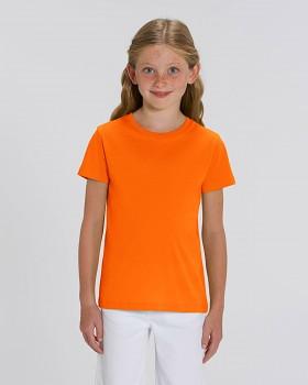 MINI CREATOR dětské tričko s krátkými rukávy ze 100% biobavlny - oranžová burnt