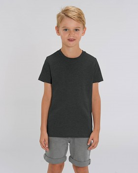 MINI CREATOR dětské tričko s krátkými rukávy ze 100% biobavlny - šedá dark heather grey